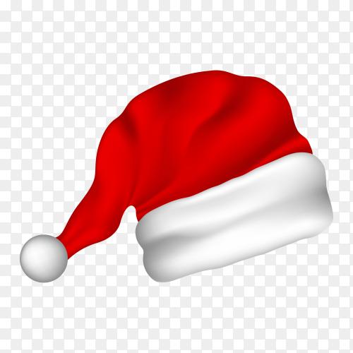 Illustration of red Santa hat premium vector PNG