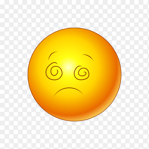 Illustration of sad emoji isolated on transparent background PNG