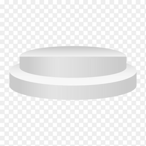 Illustration of white podium on transparent background PNG