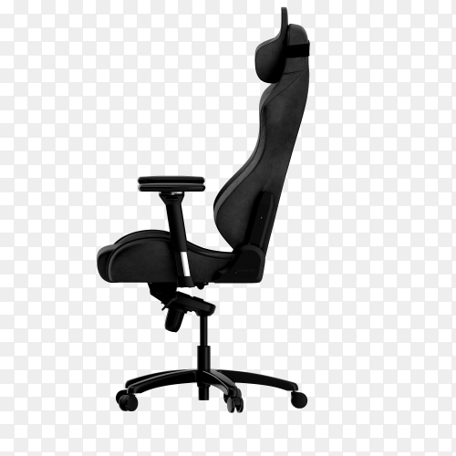 Isolated business chair on transparent background PNG