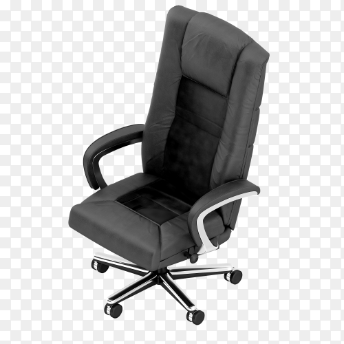 Isometric office chair on transparent background PNG