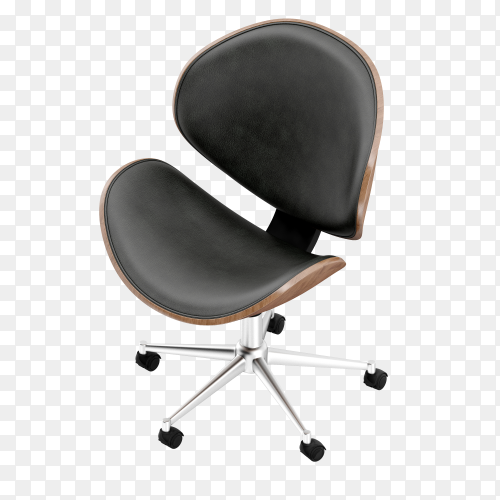 Isometric office chairs on transparent background PNG