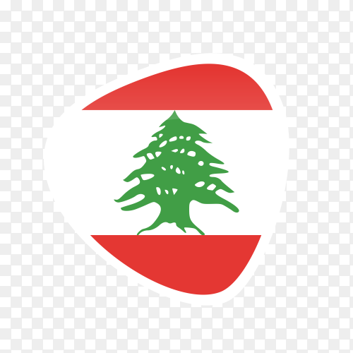 Lebanon flag icon on transparent background PNG