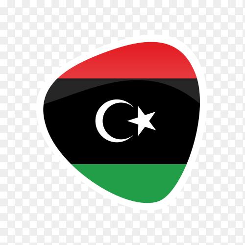 Libya flag icon on transparent background PNG