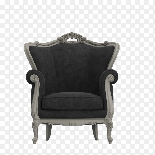 Luxurious Armchair isolated on transparent background PNG