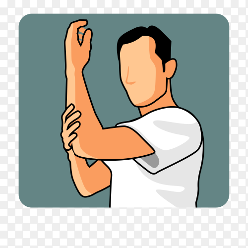 Man muslim perform ablution (wudhu) washing hand before prayer Premium vector PNG