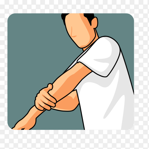 Man muslim perform ablution (wudhu) washing hand before prayer illustration on transparent background PNG