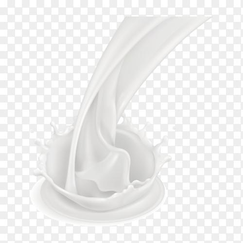 Milk splash illustration on transparent background PNG