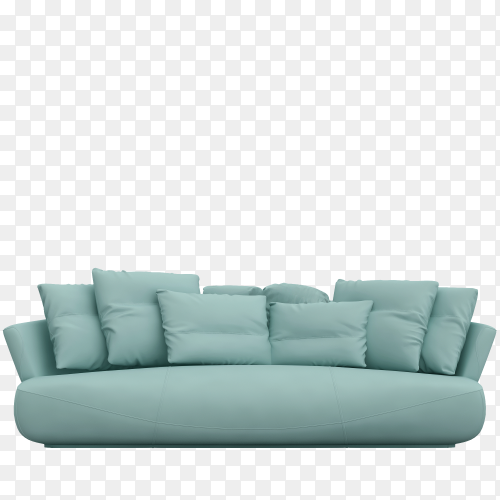 Modern sofa isolated on transparent background PNG