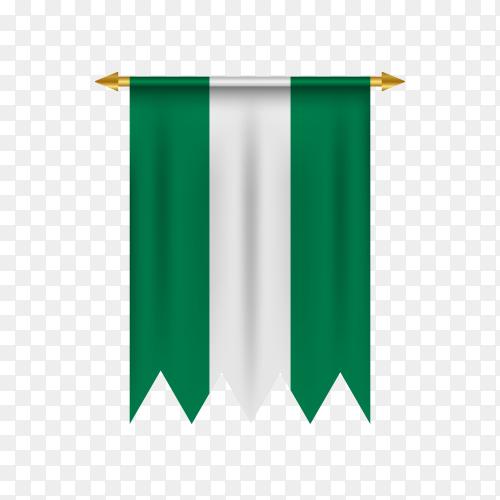 Nigeria flag illustration on transparent background PNG