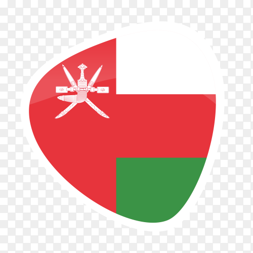 Oman flag icon on transparent background PNG