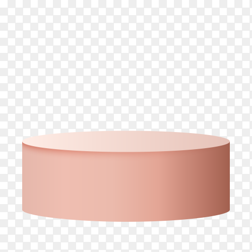 Pink podium isolated on transparent background PNG