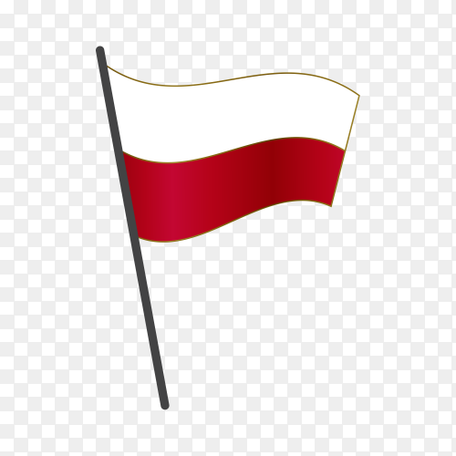 Poland flag isolated on transparent background PNG