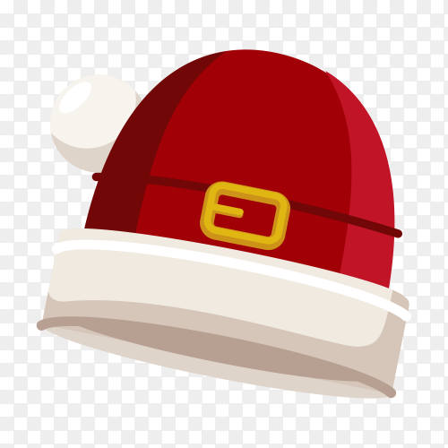 Realistic Santa Claus hat isolated on transparent background PNG