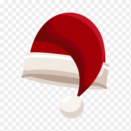 Realistic Santa Claus hat isolated premium vector PNG