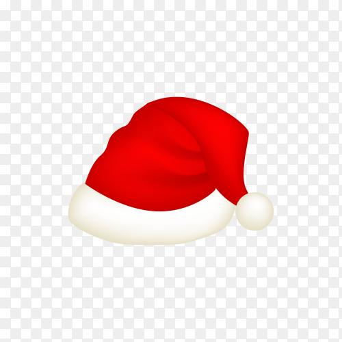 Realistic Santa Claus hat premium vector PNG