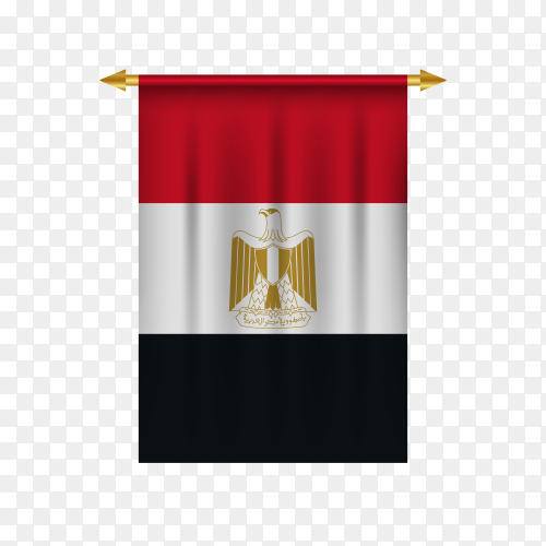 Realistic pennant flag of Egypt Premium vector PNG