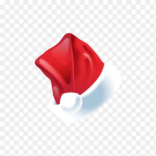 Realistic Santa's hat Clipart PNG