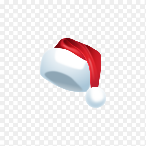 Realistic Santa's hat on transparent background PNG