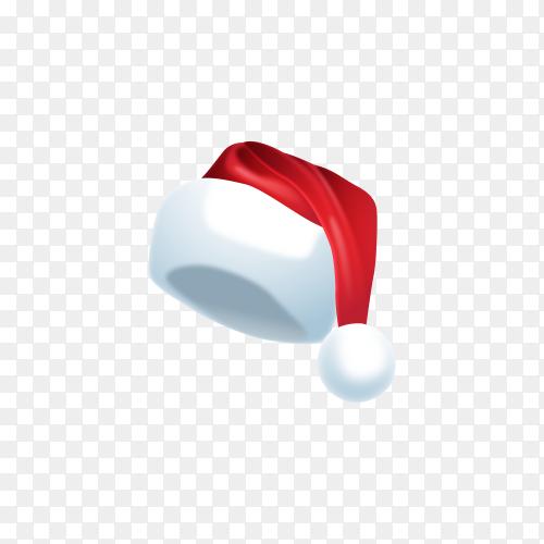 Realistic Santa's hat on transparent background PNG