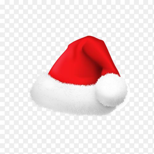 Realistic Santa's hat premium vector PNG