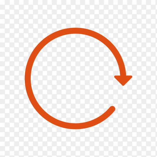 Red Circle Arrow Icon on transparent PNG
