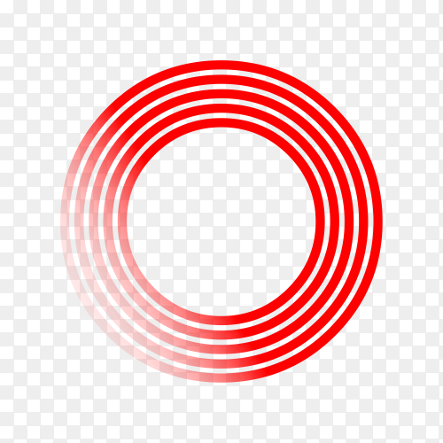Red letter O isolated on transparent background PNG