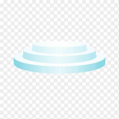 Round Blue podium illustration on transparent background PNG