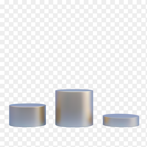 Round shapes podium isolated on transparent background PNG