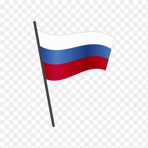 Russia flag illustration on transparent background PNG