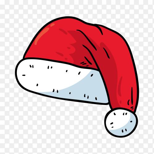Santa's hat in flat design Clipart PNG