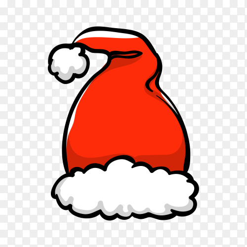 Santa's hat in flat design Premium vector PNG