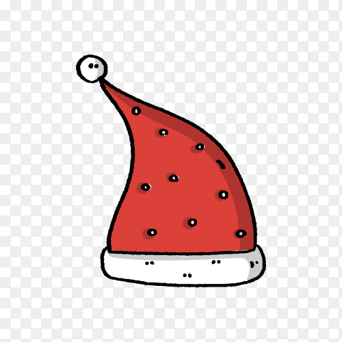 Santa's hat in flat design illustration Vector PNG