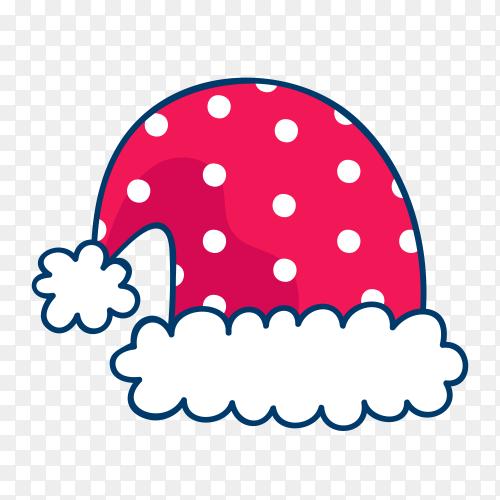 Santa Claus hat design premium vector PNG