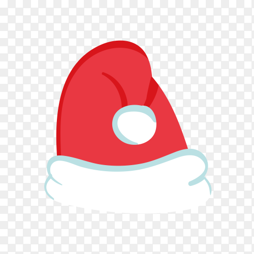 Santa Claus hat in red Color premium vector PNG
