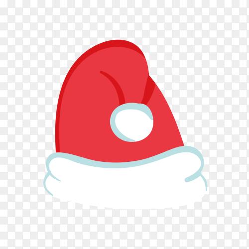 Santa Claus hat in red Color premium vector PNG