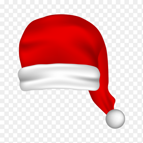 Santa Claus red hat isolated premium vector PNG