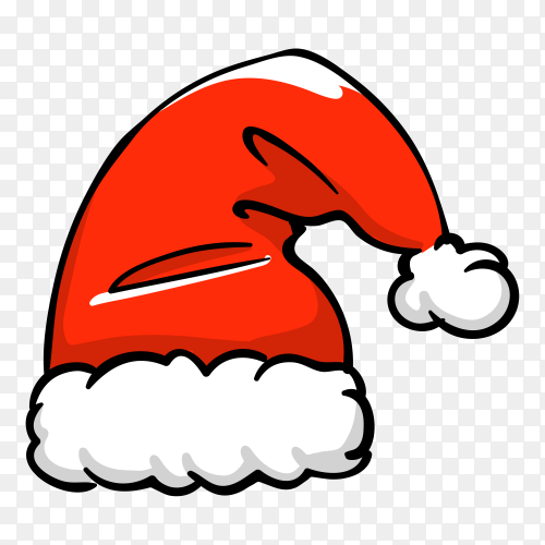 Santa Claus cartoon hat Clipart PNG