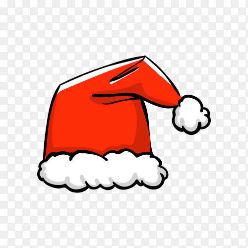 Santa Claus cartoon hat illustration premium vector PNG