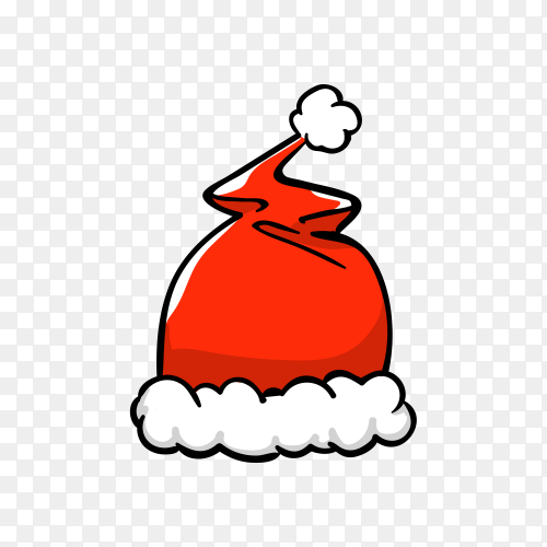Santa Claus cartoon hat premium vector PNG
