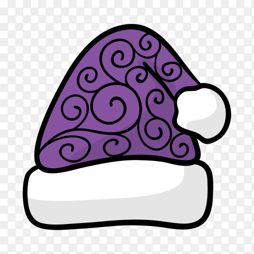 Santa Claus hat design on transparent background PNG