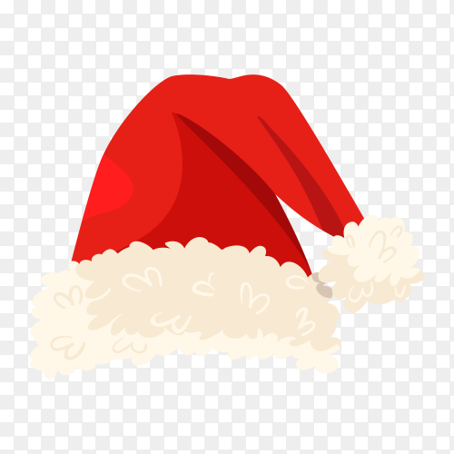 Santa Claus hat icon on transparent background PNG