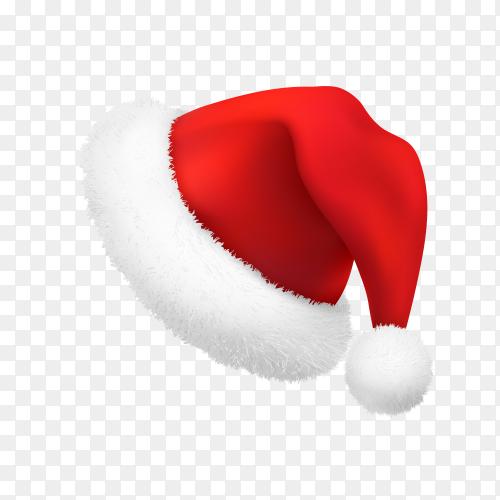 Santa Claus hat illustration Premium vector PNG