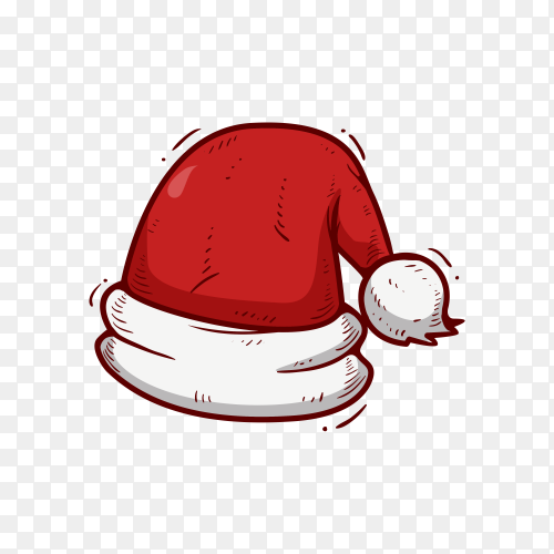 Santa Claus hat illustration on transparent PNG