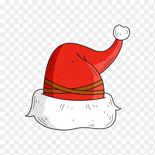 Santa Claus hat illustration on transparent background PNG
