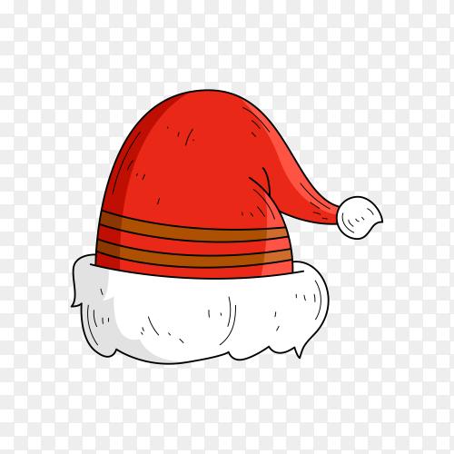 Santa Claus hat premium vector PNG