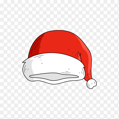 Santa Claus icon illustration premium vector PNG