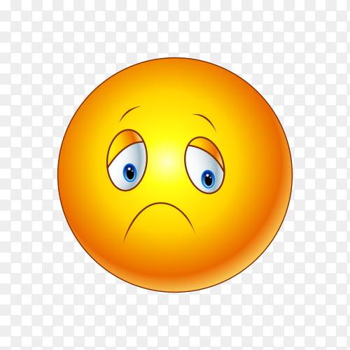Slightly Frowning Face Emoji on transparent background PNG