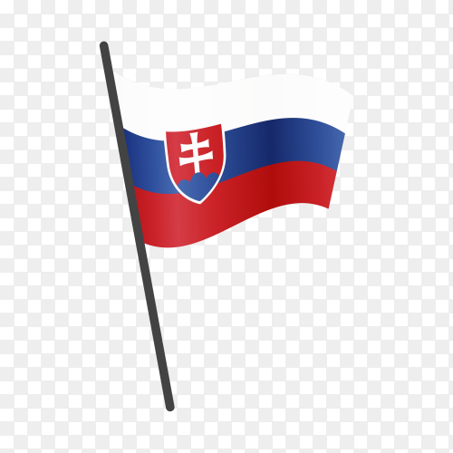 Slovakia flag isolated on transparent background PNG