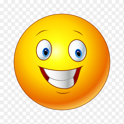 Smiling Face with Open Mouth Emoji on transparent background PNG
